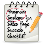 Business Systems for Sales Page Success Checklist